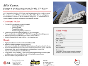 AON Center: Design & Bid Management for the 27th Floor
