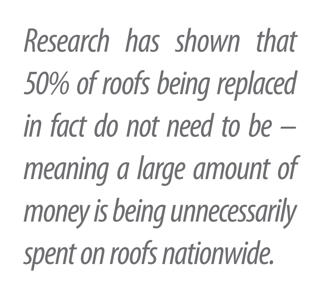 Half of all roofs being replaced do not need to be