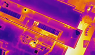 Color Drone Infrared Roof Scan